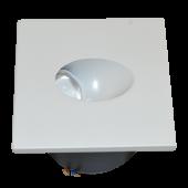 3W LED Downlight Steplight Square - White Body, Natural White