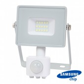 10W LED Sensor Floodlight SAMSUNG CHIP Cut-OFF Function White Body 6400K