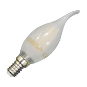 LED Bulb - 4W Filament E14 Candle Flame Warm White