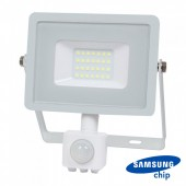 20W LED Sensor Floodlight SAMSUNG CHIP Cut-OFF Function White Body 6400K