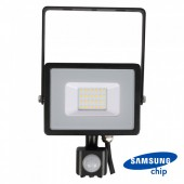 20W LED Sensor Floodlight SAMSUNG CHIP Cut-OFF Function Black Body 4000K