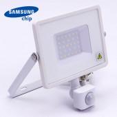 30W LED Sensor Floodlight SAMSUNG Chip Cut-OFF Function White Body 4000K