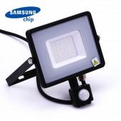 30W LED Sensor Floodlight SAMSUNG Chip Cut-OFF Function Black Body 3000K