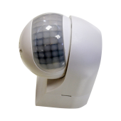 PIR Wall Sensor With Moving Head White
