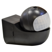 PIR Wall Sensor With Moving Head Black