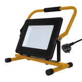 100W LED Floodlight with Stand And EU Plug Black Body SMD White