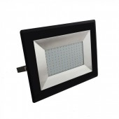 100W LED Floodlight E-Series Black Body  Natural White