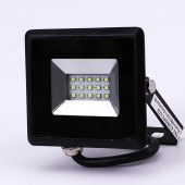 10W LED Floodlight SMD E-Series Black Body Green IP65