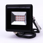 10W LED Floodlight SMD E-Series Black Body Red IP65