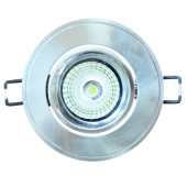 5W LED Downlight Adjustable Round - Satin Nickel Body, White