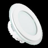 18W LED Mini Panel Glass - Round, Change Color 3000K/4500K/6000K