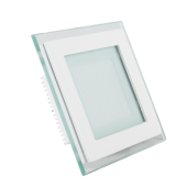 6W LED Mini Panel Glass - Square, Warm White