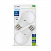 LED Bulb - 9W E27 A60 Thermoplastic Day&Night Sensor Warm White 2PCS/PACK