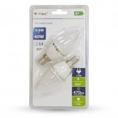 LED Bulb - 5.5W E14 Candle Warm White 2PCS/PACK