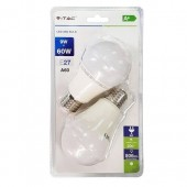 LED Bulb - 9W E27 A60 Thermoplastic White 2PCS/PACK