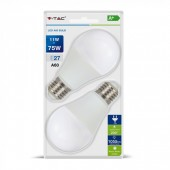 LED Bulb - 11W E27 A60 Thermoplastic White 2PCS/PACK