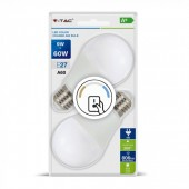 LED Bulb - 9W E27 A60 Thermoplastic Changing Color 2 pcs Blister Pack