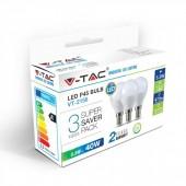 LED Bulb - 5.5W E14 P45 Natural White 3PCS/PACK