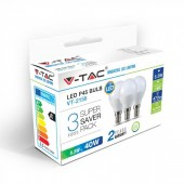LED Bulb - 5.5W E14 P45 White 3PCS/PACK