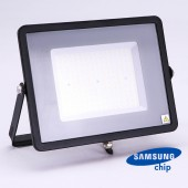 100W LED Floodlight SMD SAMSUNG CHIP SLIM  Black Body 6400K 120LM/W