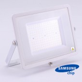 100W LED Floodlight SMD SAMSUNG CHIP SLIM  White Body 4000K 120LM/W