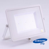 100W LED Floodlight SMD SAMSUNG CHIP SLIM  White Body 6400K 120LM/W