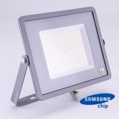 100W LED Floodlight SMD SAMSUNG CHIP SLIM  Grey Body 4000K 120LM/W