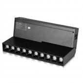 10 x 2W LED Magnetic SMD Gimbal Linear Spotlight Black IP20 24V 3000K