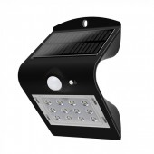 1.5W LED Solar Wall Light Natural light Black Body