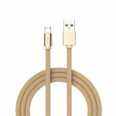 1m. Micro USB Cable Gold - Ruby Series