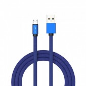 1m. Micro USB Cable Blue - Ruby Series