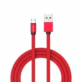 1m. Micro USB Cable Red - Ruby Series