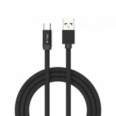 1m. Type C USB Cable Black - Ruby Series