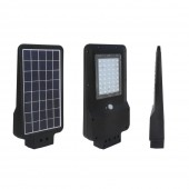 15W LED Solar Street Light Black Cover 6000K