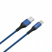 1m. Type C USB Cable Blue - Gold Series
