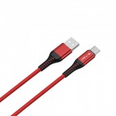 1m. Type C USB Cable Red - Gold Series