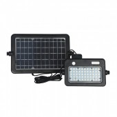 10W LED Solar Floodlight Detachable Black Body 4000K