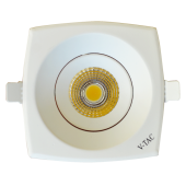8W LED Downlight COB Square - White Body, White