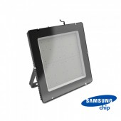 1000W LED Floodlight SMD SAMSUNG Chip Slim Black Body 4000K 120 lm/Watt