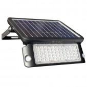 10W LED Solar Floodlight Black Body Natural White