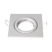 Fitting for GU10 Spotlights - Square, Adjustable, White