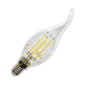 LED Bulb - 4W Filament E14 Candle Flame Warm White Dimmable