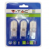 LED Spotlight - 2.5W 230V G9 Warm White, Blister Pack 3 pcs