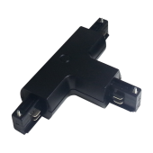 4T Track Light Connector Black
