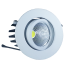 3W LED Downlight Round - White Body, White